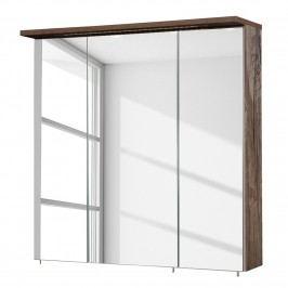 EEK A+, Spiegelschrank Milan (inkl. Beleuchtung) - Eiche Panama Dekor - 70 cm, Schildmeyer
