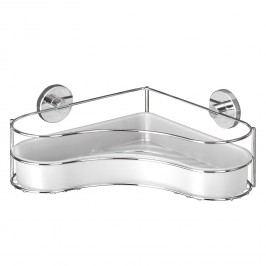 Eckablage Milazzo Vacuum-Loc - Stahl / Kunststoff - Chrom / Weiß, Wenko