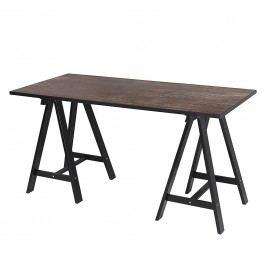 Schreibtisch Sumatra - Vintage Braun/Schwarz, Rauch Select