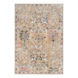 Vintage-Teppich Adalicia - Kunstfaser - Camel / Marineblau - 182 x 274 cm, Safavieh