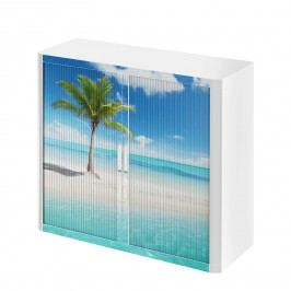 Rollladenschrank easyOffice Holiday I - Blau, easy Office und Paperflow