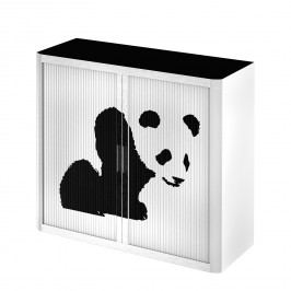 Rollladenschrank easyOffice Pop Art Panda - Weiß / Schwarz, easy Office und Paperflow