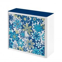 Rollladenschrank easyOffice Papier Peints V - Blau - 104 cm, easy Office und Paperflow