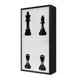 Aktenschrank easyOffice Noire et Blanc XIV - Schwarz / Weiß - 204 cm, easy Office und Paperflow