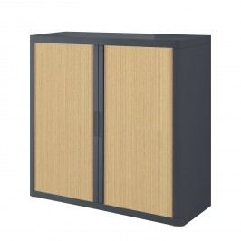 Aktenschrank easyOffice - Anthrazit / Buche - 104 cm, easy Office und Paperflow