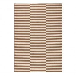 Teppich Panel - Kunstfaser - Braun / Creme - 80 x 150 cm, Top Square