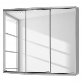 EEK A+, Spiegelschrank Modena (inkl. LED-Beleuchtung) - Grau, Sieper