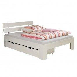 Futonbett Jasmin - 2 Bettkästen - White Washed, Relita