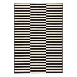 Teppich Panel - Kunstfaser - Schwarz / Creme - 120 x 170 cm, Top Square