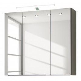 EEK A+, Spiegelschrank Zeehan - Grau - 70 cm, Giessbach