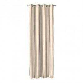 Vorhang mit Ösen - Creme/Rot Streifen - 130x310 cm, Dekoria