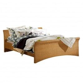 Doppelbett Bryne - Rattan - 180 x 200cm - Beige, Lars Larson