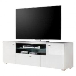TV-Lowboard Arminto - Hochglanz Weiß / Weiß, roomscape