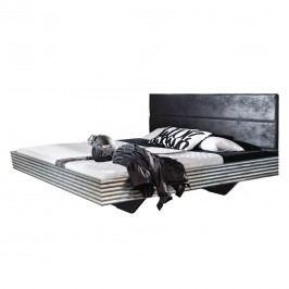 Futonbett Workbase I - Silver Plate/Kunstleder Buffalo Schwarz - 160 x 200cm, Rauch Select