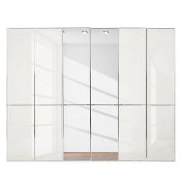 Drehtürenschrank Chicago II - Hochglanz Weiß / Spiegel - 300 cm (6-türig) - 236 cm, Wiemann