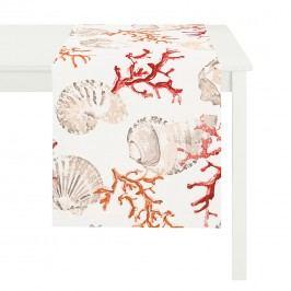 Tischläufer Atlantik - 100% Baumwolle - Rot, Apelt