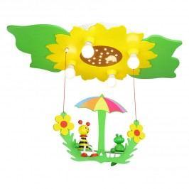 EEK A+, Deckenleuchte Blume/Blätter 4/20 - Holz - 4-flammig, Elobra