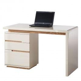 Schreibtisch Niya - Hochglanz Beige / Esche, Fredriks
