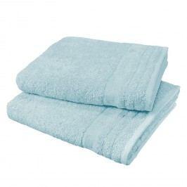 Handtuch Travemünde (2er-Set) - Baumwollstoff - Pastellblau, Tom Tailor