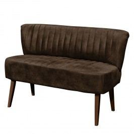 Sitzbank Rotnes (2-Sitzer) - Antiklederlook - Buche Dunkel - Espresso, Maison Belfort