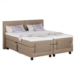 Boxspringbett Brilliant Night (motorisch verstellbar) - 200 x 200cm - H2 bis 80 kg - Beige meliert, Grand Selection