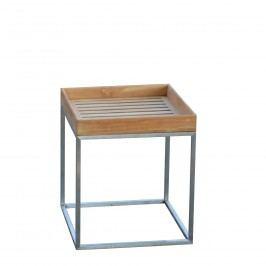 Pizzo Outdoor Teak - Gestell Edelstahl - 40x40 cm