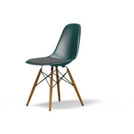 DSW mit Sitzpolster - Gestell Ahorn gelblich - ocean - Sitzhöhe 46 cm