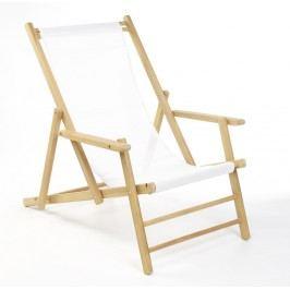 Maxx Liegestuhl - blau gestreift - ohne Fußteil