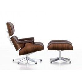 Lounge Chair & Ottoman - Nussbaum/chocolate -poliert