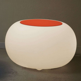 Tisch BUBBLE Indoor LED E27-Lampe + Filz orange
