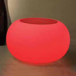 Tisch BUBBLE Indoor LED RGB + Filzauflage rot