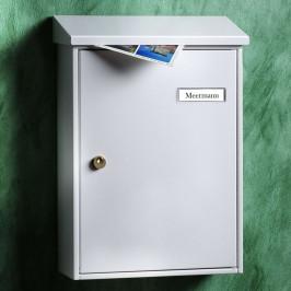 Weiß lackierter schlichter Briefkasten Letter 5832