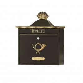 Briefkasten TRAKO im Klassik-Design, schwarz/gold