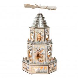 LED-Dekoleuchte Weihnachtspyramide XL