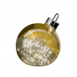 Dekoleuchte Ornament, gold, Ø 20 cm
