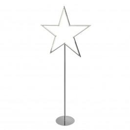 Stern-Dekoleuchte Lucy chrom, Höhe 100 cm