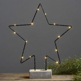 Betonfuß-Dekorationsleuchte Cemmy Sternform