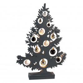 LED-Dekorationsleuchte Weihnachtsbaum anthrazit