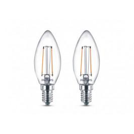 LED-Leuchtmittel Kerzenform 2er-Pack E14 2 Watt