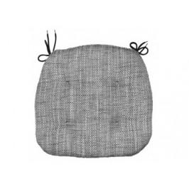 Stuhlkissen Tweed 41 x 42 x 4 cm anthrazit