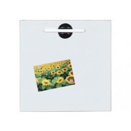 Glas-Magnettafel ca. 40x40 cm weiß