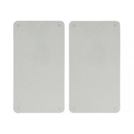 Glas-Schneideplatten 2-er Set grau