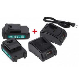 PowerPlus Akku-und Ladegerät-Set POWEB9090