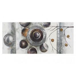 Ölgemälde handgefertigt ca. 60x140cm Abstrakt Kreise
