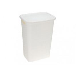 Wäschebox Rattan-Optik 60l weiß