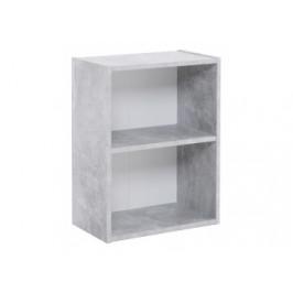 Regal Step Beton-Optik/weiß ca. 41,5 x 54,5 x 25 cm