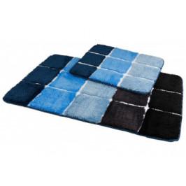 Badgarnitur Karo 2-tlg. blau 40 x 50 cm + 60 x 90 cm