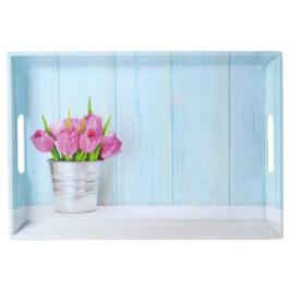 Tablett Tulpen ca. 50x35cm