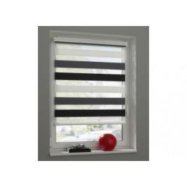 Doppelrollo Farbig  weiß-grau-schwarz ca. 80 x 160 cm