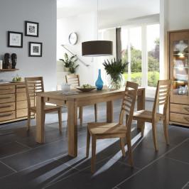 Essgruppe (5-teilig) mit Tisch 180x90 und Holzstuhl